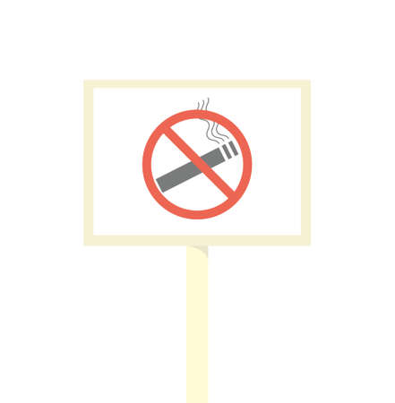 smokers: No smoking sign. Illustration