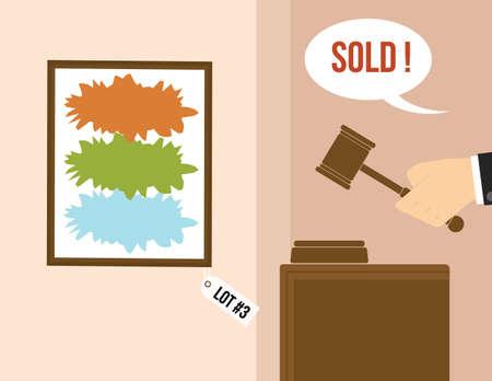 Auction concept.