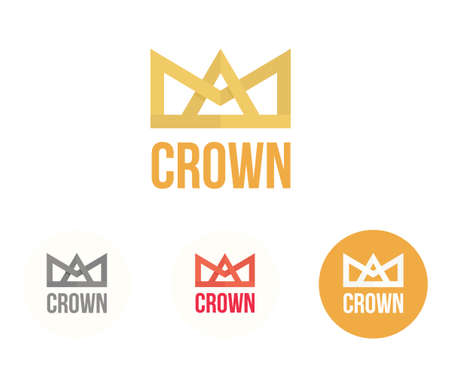 quin: Crown icon. Modern colorful reign and power concept