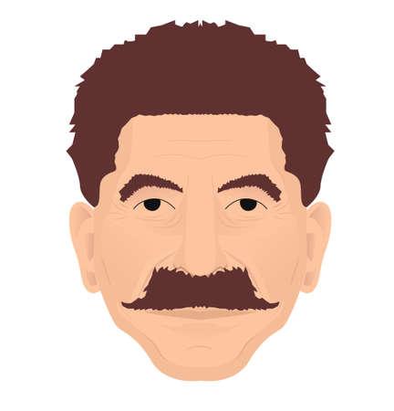 dictator: Joseph Stalin portrait. Vector illustration of Soviet leader and dictator Ioseb Besarionis dze Jugashvili
