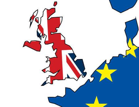 Great Britain and European Union relations. European geopolitics maps