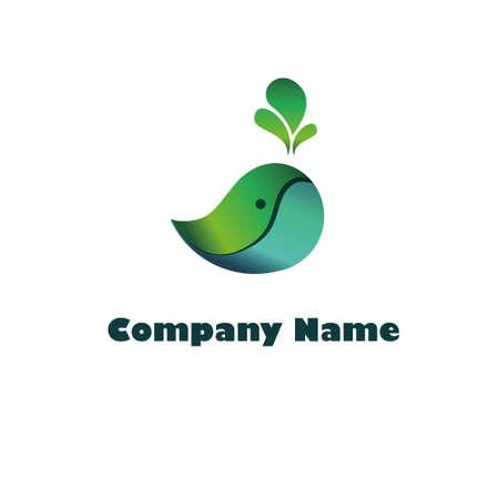 Eco friendly design. Green whale vector Ilustracja