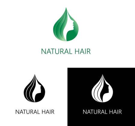 Natural hair logo design. Beauty logo