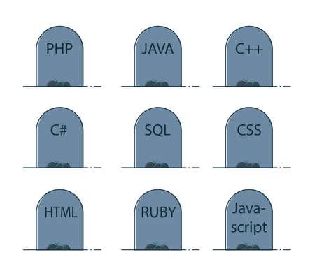 Programming languages graves icons
