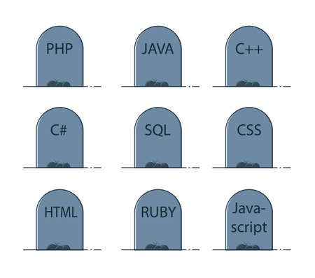 Programming languages graves icons