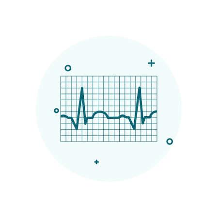 ECG icon. Electrocardiography vector illustration