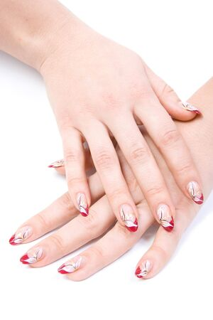 women's hands: Womens hands. Isolated on white background.