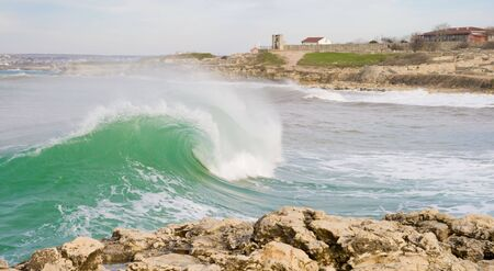 Beautiful big wave on the coast Stock Photo - 6674024