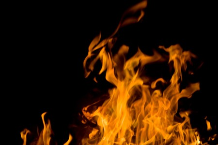 outdoor fireplace: Flames. Can be used as a background.