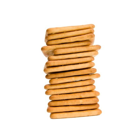 Stack of cookies isolated on white background. photo