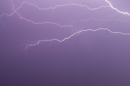 The branches of lightning in the night sky Stock Photo - 7331675