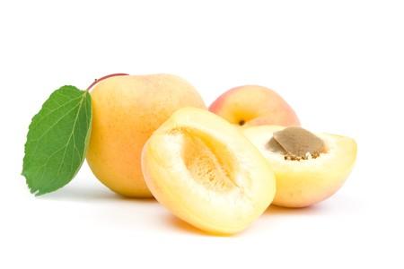 Apricots. Isolated on white background. photo