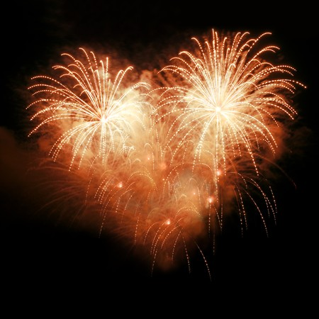 Fireworks in the night sky in the form of heart Stock Photo - 7506769