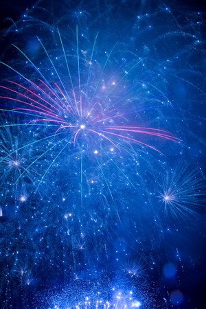 A beautiful fireworks in the night sky Stock Photo - 7997962