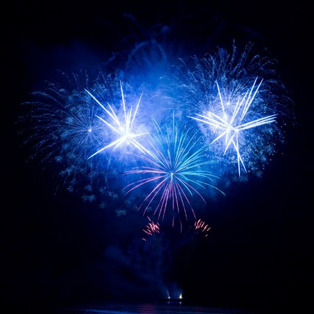 A beautiful fireworks in the night sky Stock Photo - 7997922