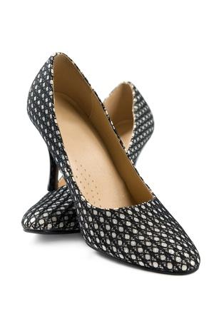 Stylish womens shoes. Isolated on white background  photo