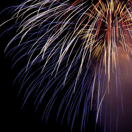 A beautiful fireworks in the night sky Stock Photo - 9663425