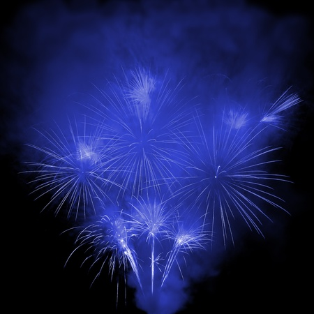 Beautiful explosions of fireworks in the night sky  Stock Photo - 9663454