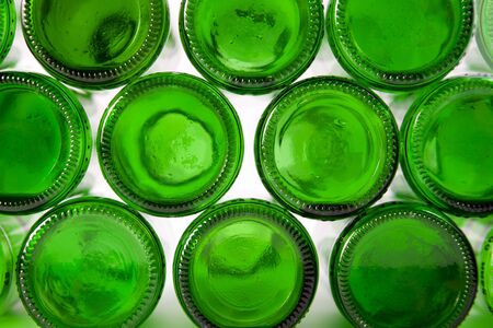 Bottoms of bottles of green. Can be used as background photo