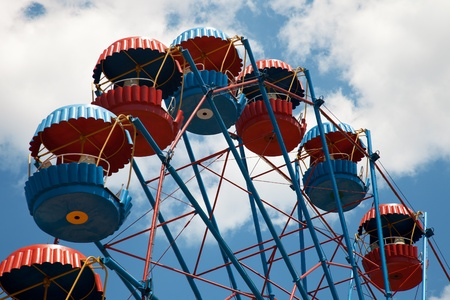 Cubicles Ferris wheel in the sky photo