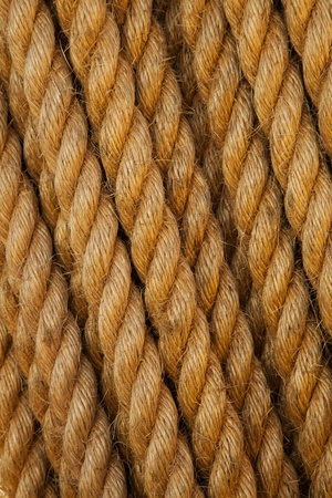 Twisted rope. Can be used as background  photo