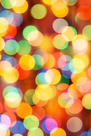 bokeh: Festive lights. Can be used as background