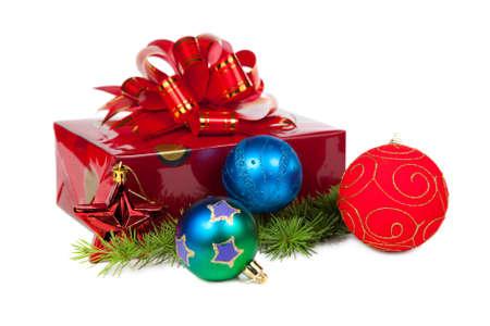 Christmas gifts. Isolated on white background  photo