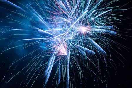 outbreaks: Outbreaks of fireworks in the night sky