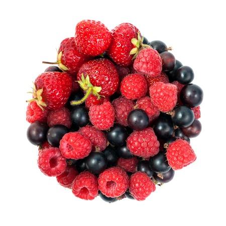 Frutti di bosco isolato su uno sfondo bianco
