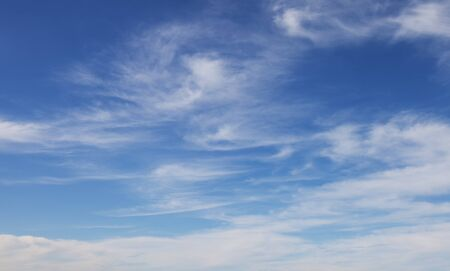 cirrus clouds: Cirrus clouds against the blue sky