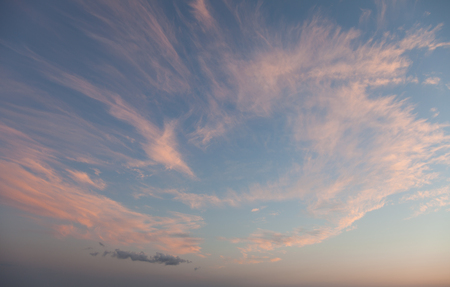 nebulosity: Blue sky with clouds at sunset