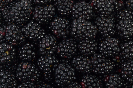 Background of ripe blackberry berries close-up