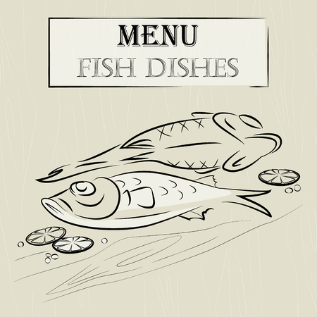 food still: Menu fish dishes