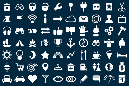 Set of web icons for business , finance and communication Illustration
