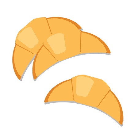 french toast: Croissants. Bread vector