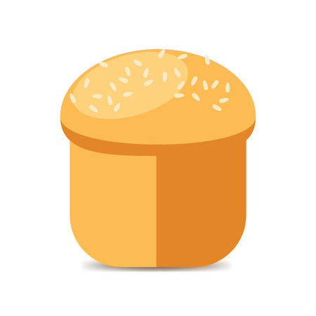 sesame seeds: Large loaf sprinkled with sesame seeds. Vector