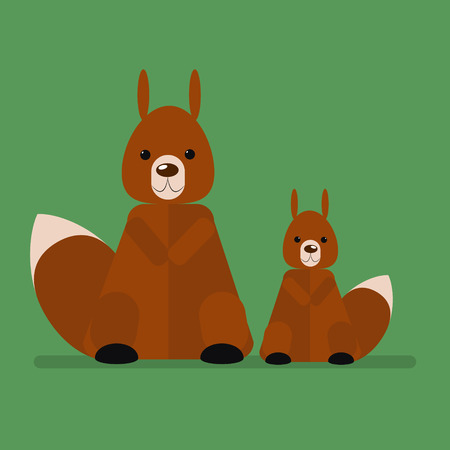 squirrel isolated: Wild animal squirrel. Isolated vector illustration of a flat Illustration