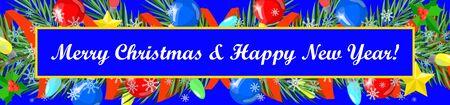happy christmas: Christmas card. Happy New Year , Merry Christmas Illustration