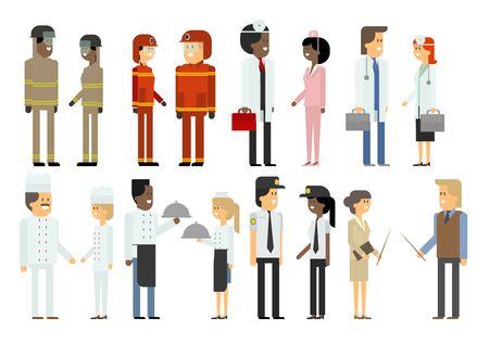 diferentes profesiones: Las personas de diferentes profesiones. Conjunto. Material de vectores de diseño