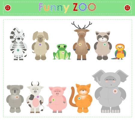 prairie dog: Animal Zoo, part two. Funny small plush animals. cartoon Vector