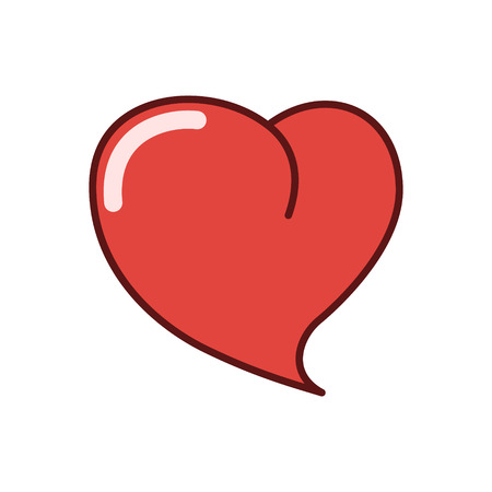 hollow body: Human heart icon, sticker vector illustration