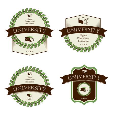 University, college, school. Icons set. Vector Vektoros illusztráció