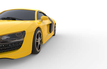 côté de la voiture jaune
