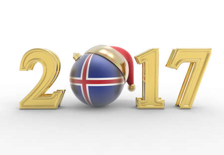 party club: 2017 happy new year with country flag Stock Photo