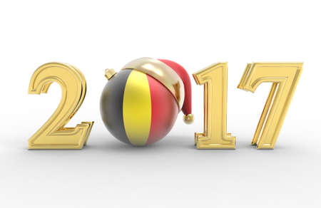 2017 happy new year with country flag Stock Photo