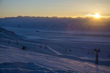 kyrgyzstan: Dawn in the mountains of Kyrgyzstan
