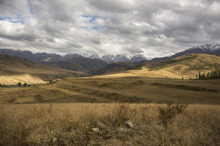 somber: Autumn in the mountains of southern Kazakhstan