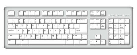 An illustration of a stylish computer keyboard
