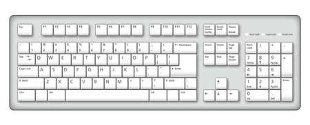 Une illustration d'un élégant clavier d'ordinateur Banque d'images - 4062069
