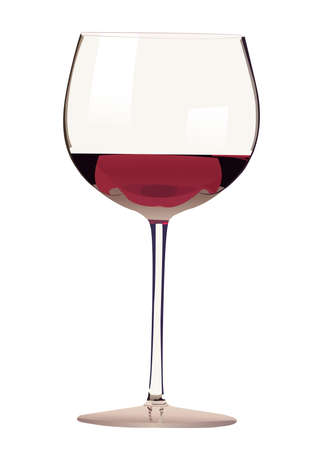 Glass of red wine illustration Illustration
